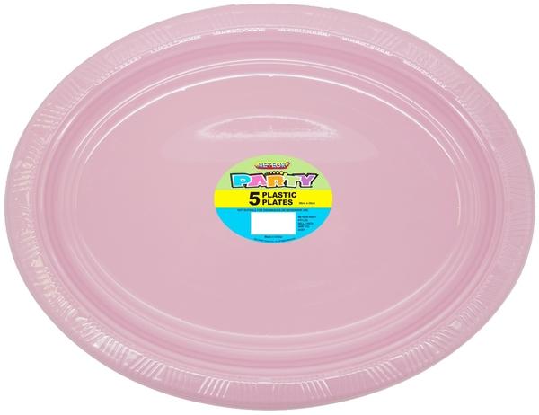 Pink Oval Plates Pk 5 Plastic Plates Shindigs Com Au