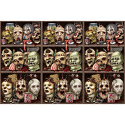 Scary Heads Backdrop Decoration (9.14m x 1.22m) Pk 1