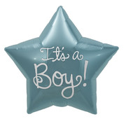 It's A Boy Blue 22in. Foil Star Balloon Pk 1