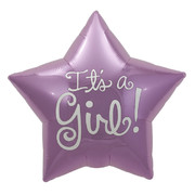 It's A Girl Pink 22in. Foil Star Balloon Pk 1