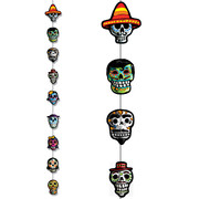 Day of the Dead Stringer Decoration (2m) Pk 1