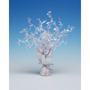 Centrepiece Weight and Spray Foil Hearts Iridescent Pk1