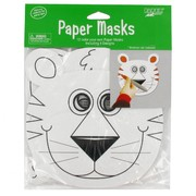 Paper Jungle Masks - Colour Your Own Pk 12