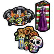 Day of the Dead Assorted Cutouts (46cm) Pk 3