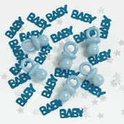 Baby Shower (Boy) Confetti & Dummies (14g) Pk 1