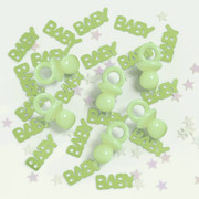 Baby Green Gingham Confetti Plus Buttons (14gms) Pk 1