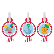 Circus Time Blowouts Pk 8 (Assorted Designs)