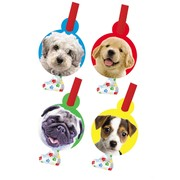 Puppy Dog Party Blowouts with Medallion - Paw-ty Time! Pk8 (Assorted Designs)