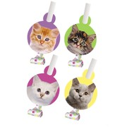 Purr-ty Time! Party Blowouts with Medallion Pk8 (Assorted Designs)