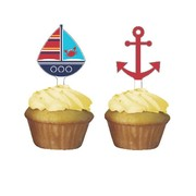 Ahoy Matey Cupcake Toppers Pk 12