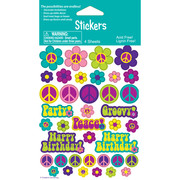 Groovy Girl Stickers Pk 4 (4 Sheets of 39 Stickers)