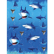 Shark Splash Stickers Pk 4 (4 Sheets of 17 Stickers)