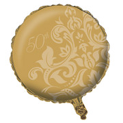 50th Anniversary Gold 18in. Foil Balloon Pk 1