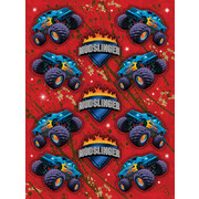 Mudslinger Monster Truck Stickers Pk 4 (4 Sheets of 11 Stickers)
