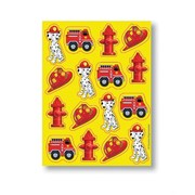 Fire Engine Party Stickers - Firefighter Pk4 (4 Sheets of 16 Stickers)