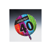 Milestone Celebrations 40 18in Foil Balloon Pk 1