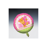 Bears 1st Birthday Girl 18in Foil Balloon Pk 1