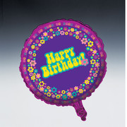 Groovy Girl Birthday Party 18in Foil Balloon Pk1