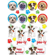 Pawty Time! Stickers Pk 4 (4 Sheets of 24 Stickers)