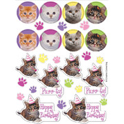 Purrty Time! Stickers Pk 4 (4 Sheets of 28 Stickers)