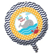 Ahoy Matey Baby Shower 18in Foil Balloon Pk 1