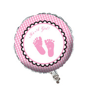 Sweet Baby Feet Pink 18in Foil Balloon Pk 1