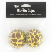 Mini Giraffe Print Baking Cups Pk 100