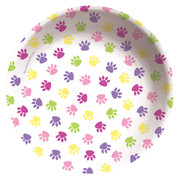 Purrty Time! 6in - 15cm Plastic Bowl Pk 1