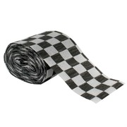 Black & White Check Party Streamer Pk1