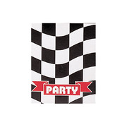 Black & White Check Invitations Pk 8