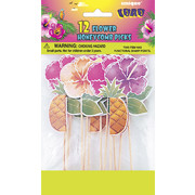 Luau Honeycomb Picks Pk12 (3 Designs, 4 of each)