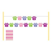 Purr-ty Time! Party - Cake Banner Kit Pk1 (6 Candles & a Banner)