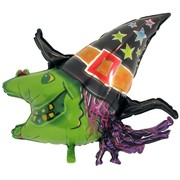 Balloon Foil Supershape Wacky Witch Pk1