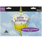 Balloon Foil Supershape Happy Birthday Cupcake Pk1