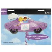 Balloon Foil Supershape Love Car Just Married Pk1