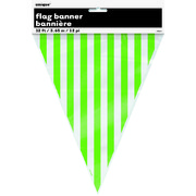 Lime Green Stripes Flag Banner 3.65m Pk 1
