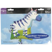 Balloon Foil Supershape Jungle Party Zebra Pk1