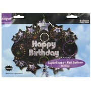 Balloon Foil Supershape Time To Party Happy Birthday Pk1