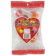 Mini Coloured Heart Lollipops 200g Pk 29