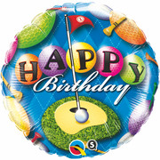 18in Foil Balloon Birthday Golf Pk1