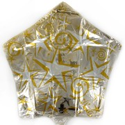 Foil Party Balloon (20in) - Starburst Gold Pk1