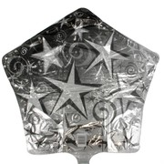 Foil Party Balloon (20in) - Starburst Silver Pk1