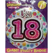 18 Today Large Pink Badge Pk 1