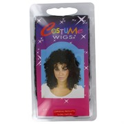 80's Party Wig - Glamour Ringlets Black Pk1