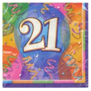 21st Birthday Party Napkins - Lunch Jubilee Pk16
