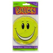 Balloon Foil 18in Smiley Face Pk1