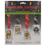 Casino Party Decoration - Dangling Card Cutouts 0.76m Pk4
