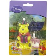 Pooh Party Candle - Winnie Pooh with Cake 3D Pk1