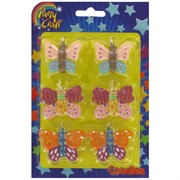 Butterfly Party Candles Pk 6