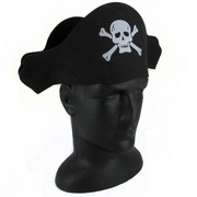 Flat Foam Pirate Hat Pk 1